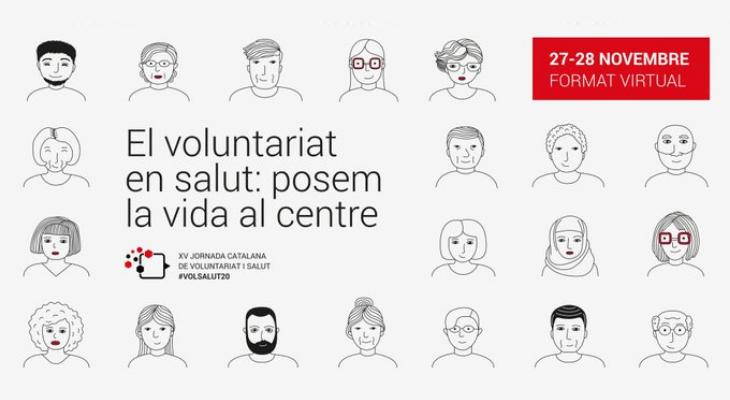 Cartell XV Jornada de Voluntariat i Salut. Font: FCVS.
